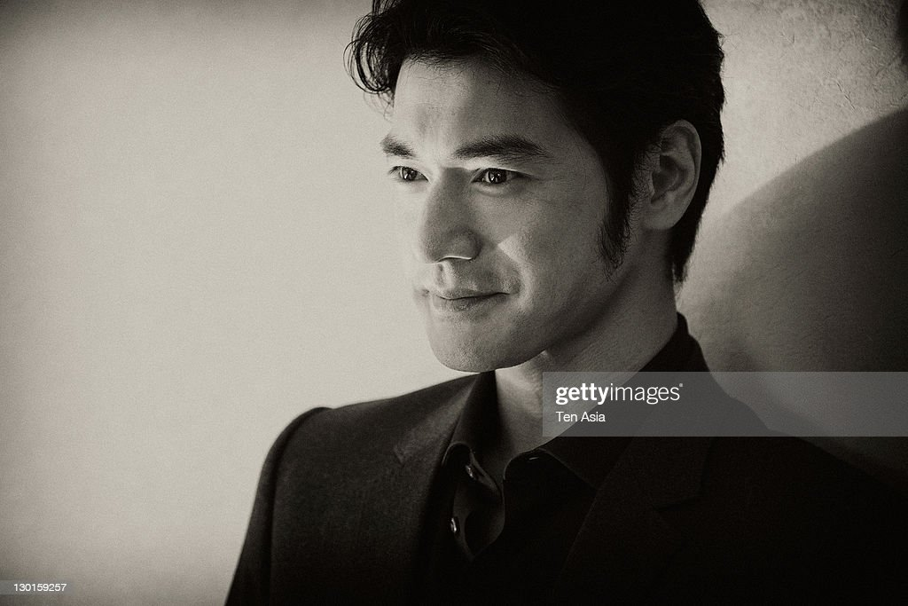 Takeshi Kanashiro poses for photographs at the 'Wu Xia' portrait session during the Busan International Film Festival on October 10, 2011 in Busan, South Korea.