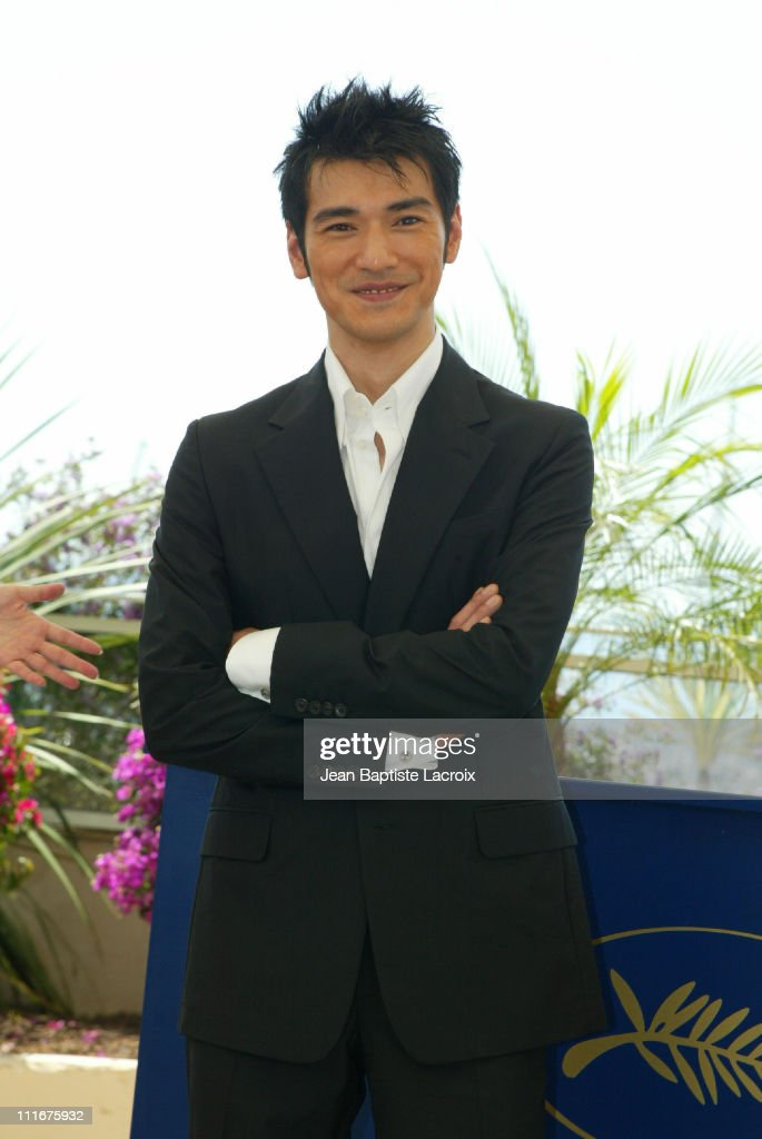 <a gi-track='captionPersonalityLinkClicked' href=/galleries/search?phrase=Takeshi+Kaneshiro&family=editorial&specificpeople=171924 ng-click='$event.stopPropagation()'>Takeshi Kaneshiro</a> during 2004 Cannes Film Festival - 'House Of Flying Daggers' - Photocall at Palais du Festival in Cannes, France.