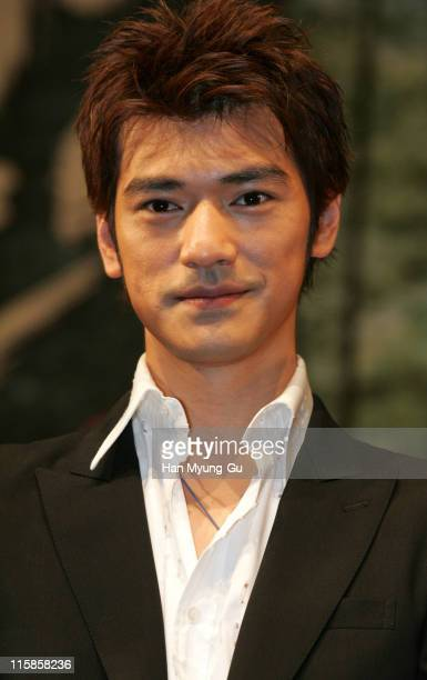 Takeshi Kaneshiro during 'Lovers' Seoul Press Conference at Seoul Shilla Hotel in Seoul City Seoul South Korea