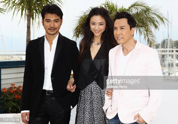 Takeshi Kaneshiro Tang Wei and Donnie Yen attends the 'Wu Xia' Photocall at the Palais des Festivals during the 64th Cannes Film Festival on May 14...