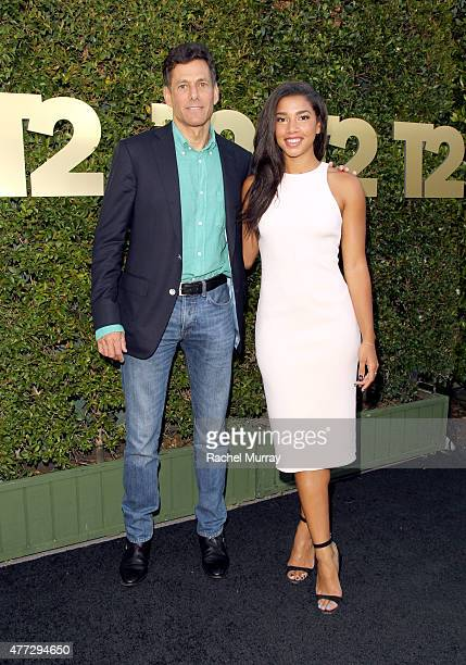 TakeTwo Interactive CEO Strauss Zelnick and Model/DJ Hannah Bronfman attend the E3 Kickoff party hosted by TakeTwo Interactive CEO Strauss Zelnick on...