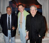 Taki Theodoracopulos Nick Foulkes and Jeremy Thomas attend the IWC and Finch's Quarterly Review Annual Filmmakers Dinner at Hotel Du CapEden Roc on...