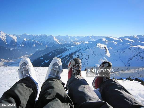 Taking a break from skiing Zillertal Austria