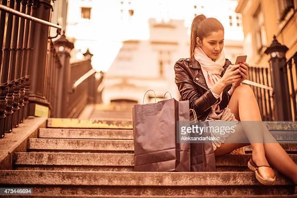 Prendendo una pausa dallo shopping