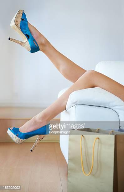 Taking a break from walking in heels