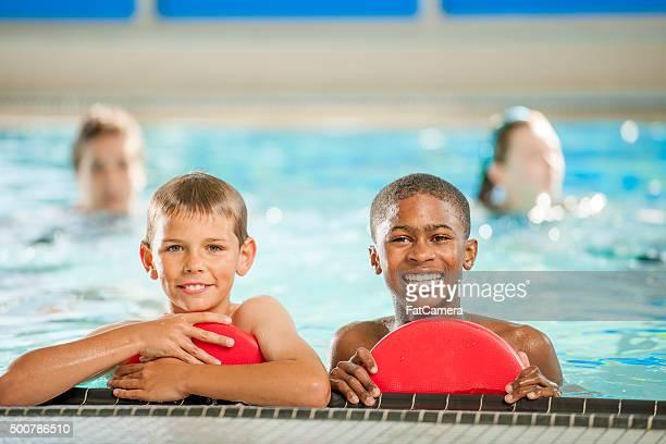 Taking a Break in Swim Class