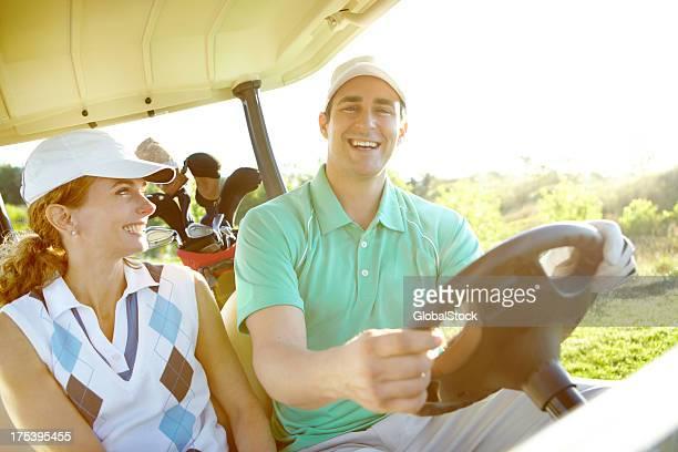 Eine Fahrt im golfcart