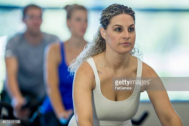 Taking a Fitness Class at the Gym