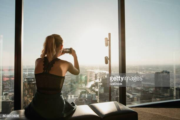 Taking a Photo of the Melbourne Skyline