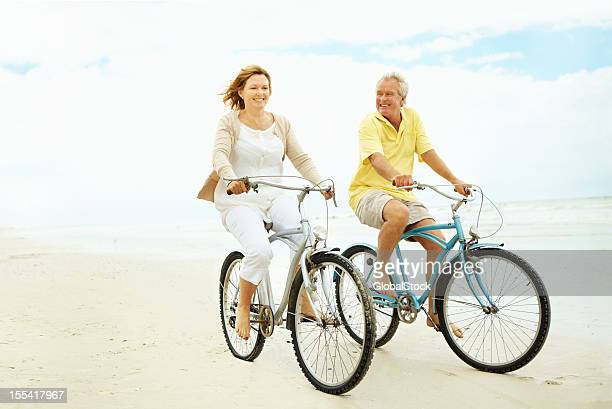 Taking a relaxing beach bike ride
