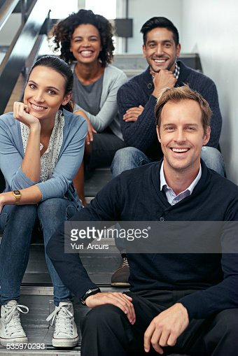 Taking a rest on the way to the top : Stock Photo