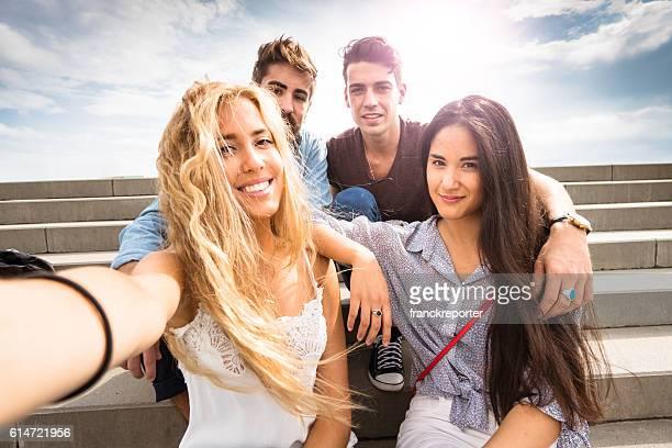 taking a selfie in barcelona
