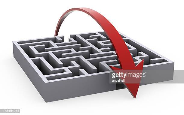 Taking a shortcut to solve the maze