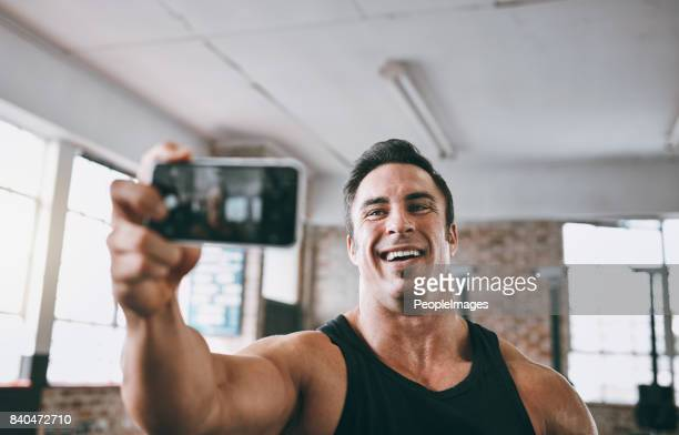 Taking a snap for my fitness blog