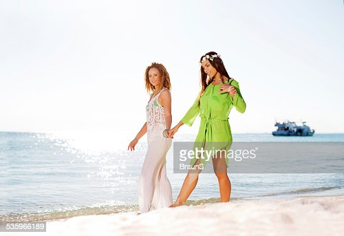 Taking a walk at the beach. : Stock Photo