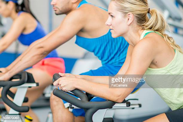 Taking an Aerobic Fitness Class at the Gym
