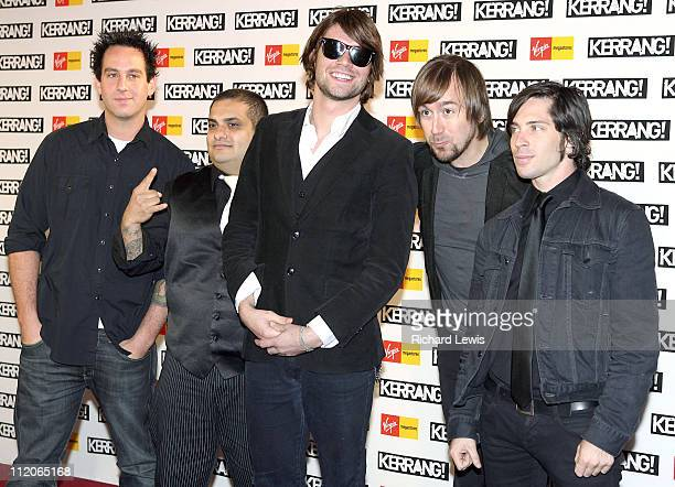 Taking Back Sunday during Kerrang Awards 2006 Arrivals at The Brewery in London Great Britain