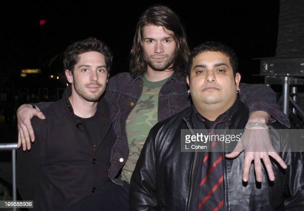 Taking Back Sunday during KROQ Almost Acoustic Christmas Concert Night 1 Backstage at Universal Amphitheatre in Los Angeles California United States