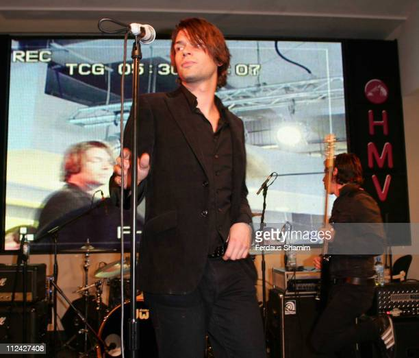 Taking Back Sunday during Taking Back Sunday InStore Performance and Signing at HMV in London August 21 2006 at HMV Oxford Street in London Great...