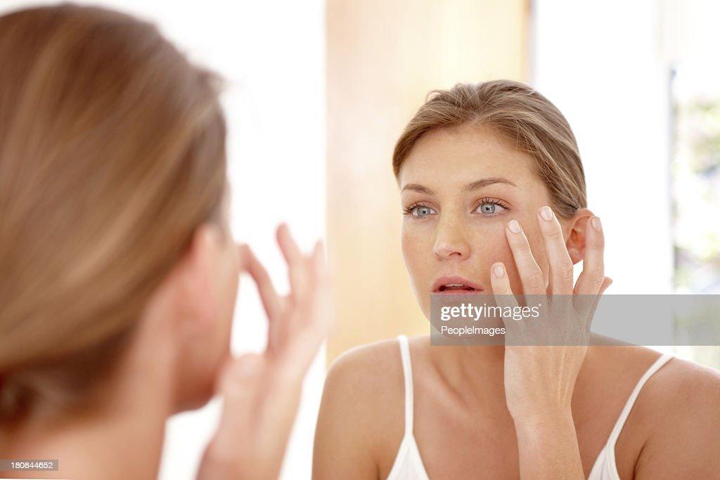 Wir kümmern uns um Ihre Haut : Stock-Foto