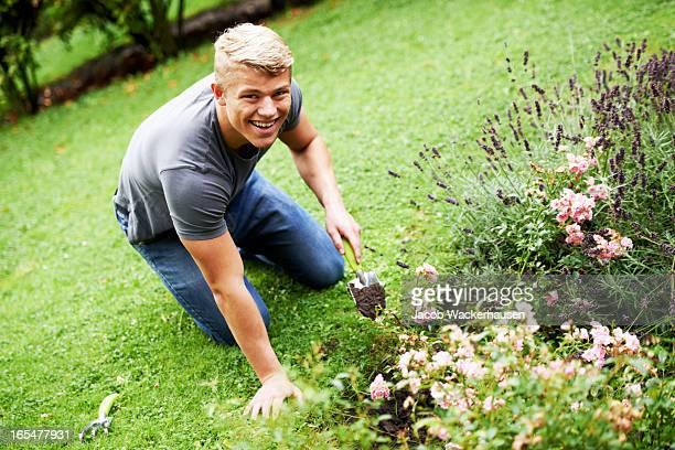庭園の手入れ