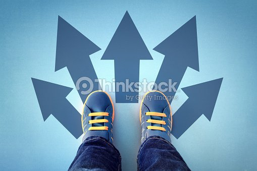 Taking decisions for the future : Stock Photo