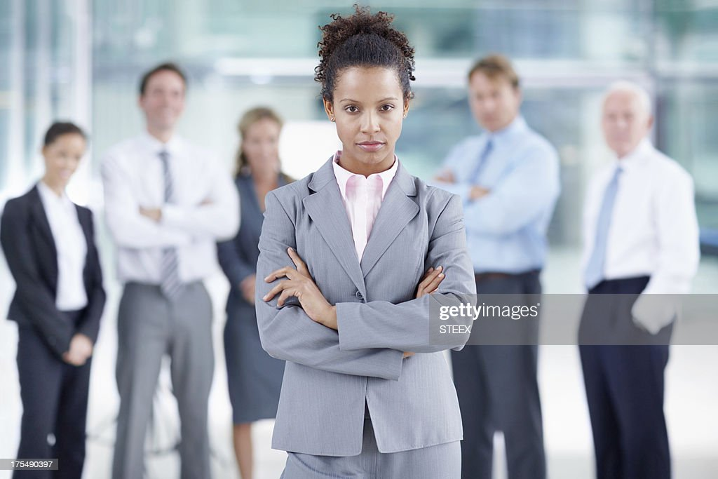 Taking her career seriously : Stock Photo
