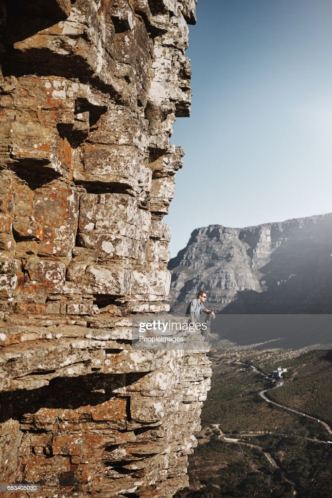 Taking in a magnificent view : Stock Photo
