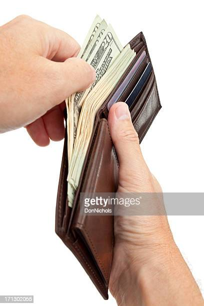 Taking Money out of a Wallet