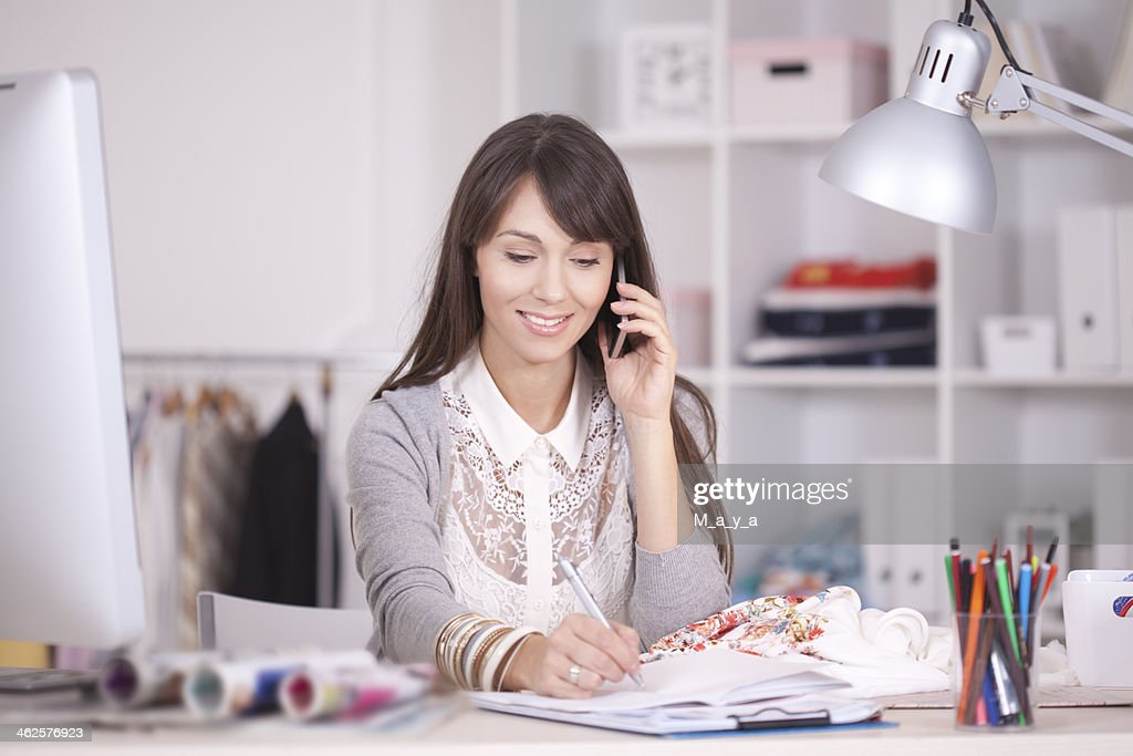 Taking orders. : Stock Photo