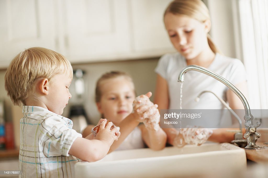 Taking our hygiene seriously : Stock Photo