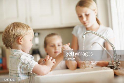 Taking our hygiene seriously : Bildbanksbilder