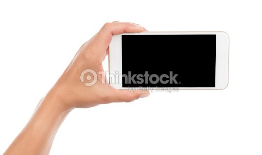 Taking Photo with Cell Phone Isolated : Stock Photo