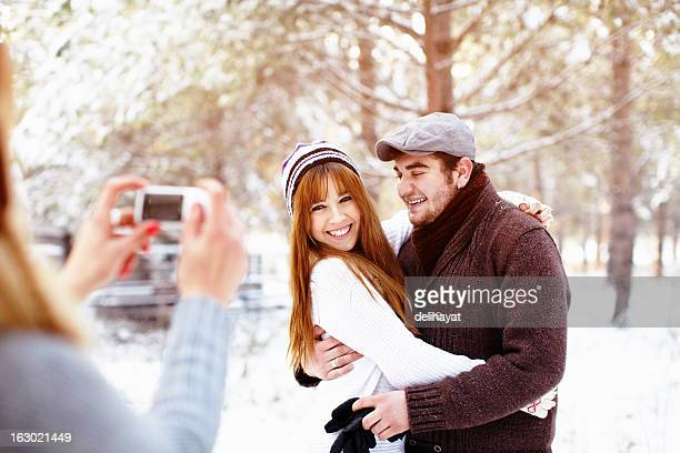 Taking picture of a couple