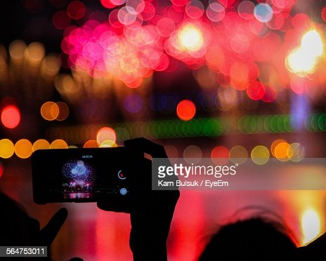 Taking Pictures Of Fireworks With Mobile Phone