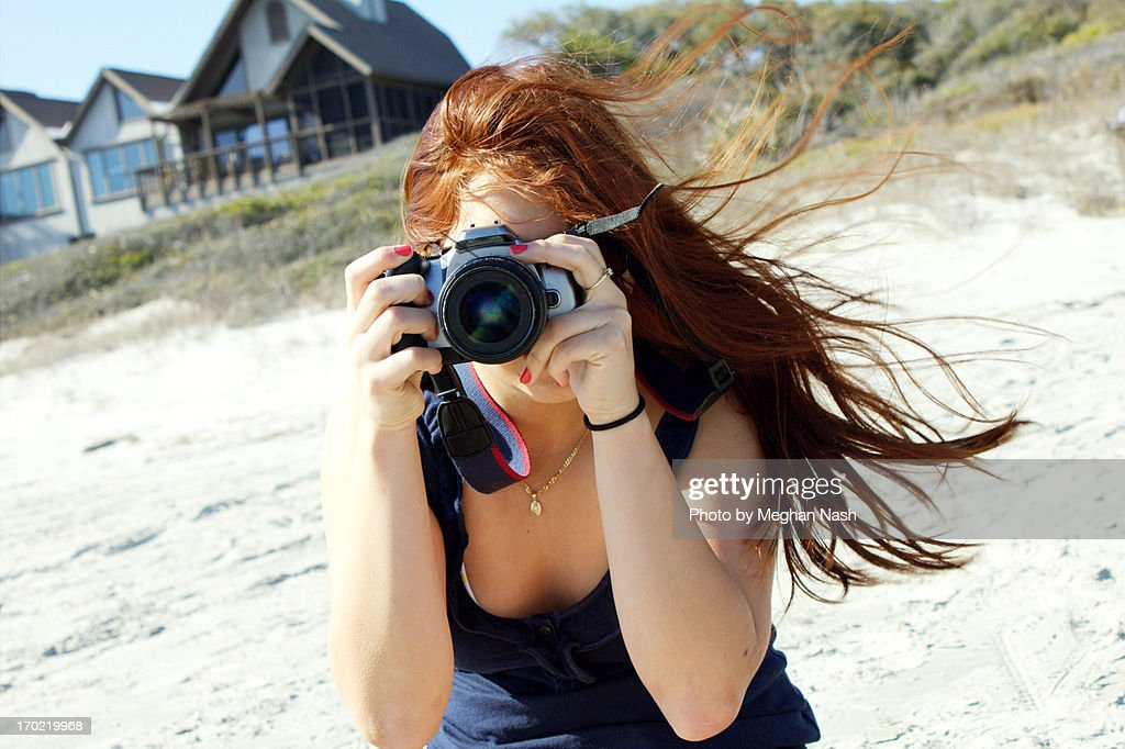Taking Pictures on the Beach
