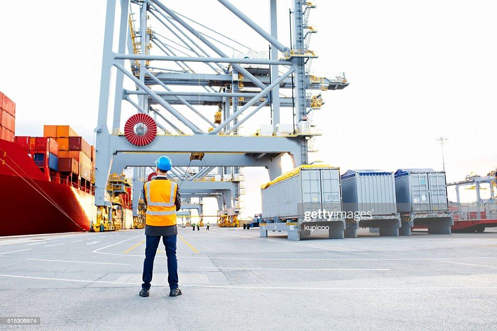 Tomar stock de los astilleros : Foto de stock