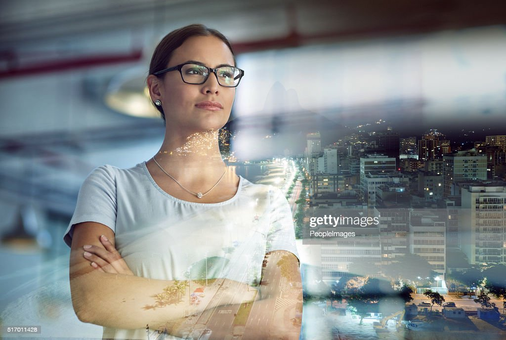 Taking the city by storm : Stock Photo