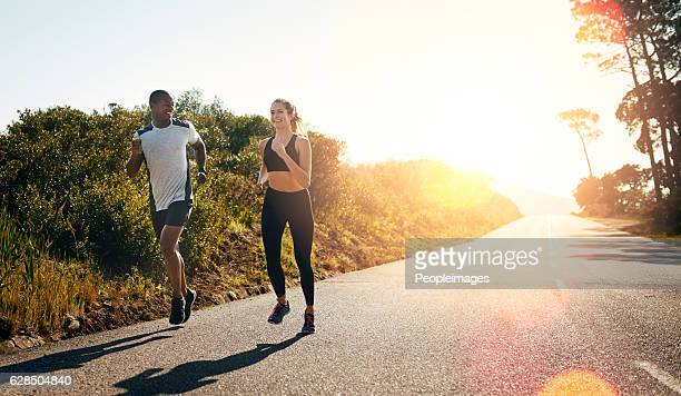 Taking their run out on the open road