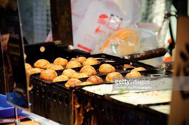 Takoyaki being prepared