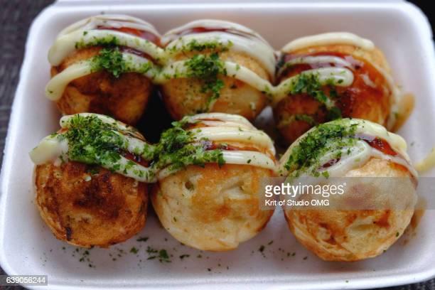 Takoyaki in foam box