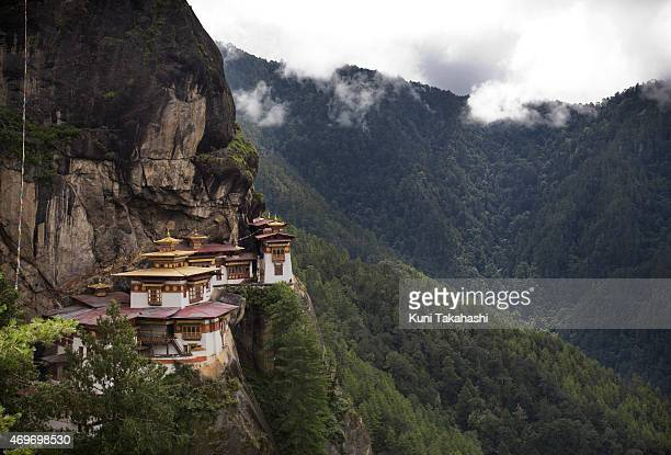 Taktsang Palphug Monastery or The Tiger's Nest Temple near Paro Bhutan on September 7 2013 Bhutan a Buddhist kingdom which allows only a limited...