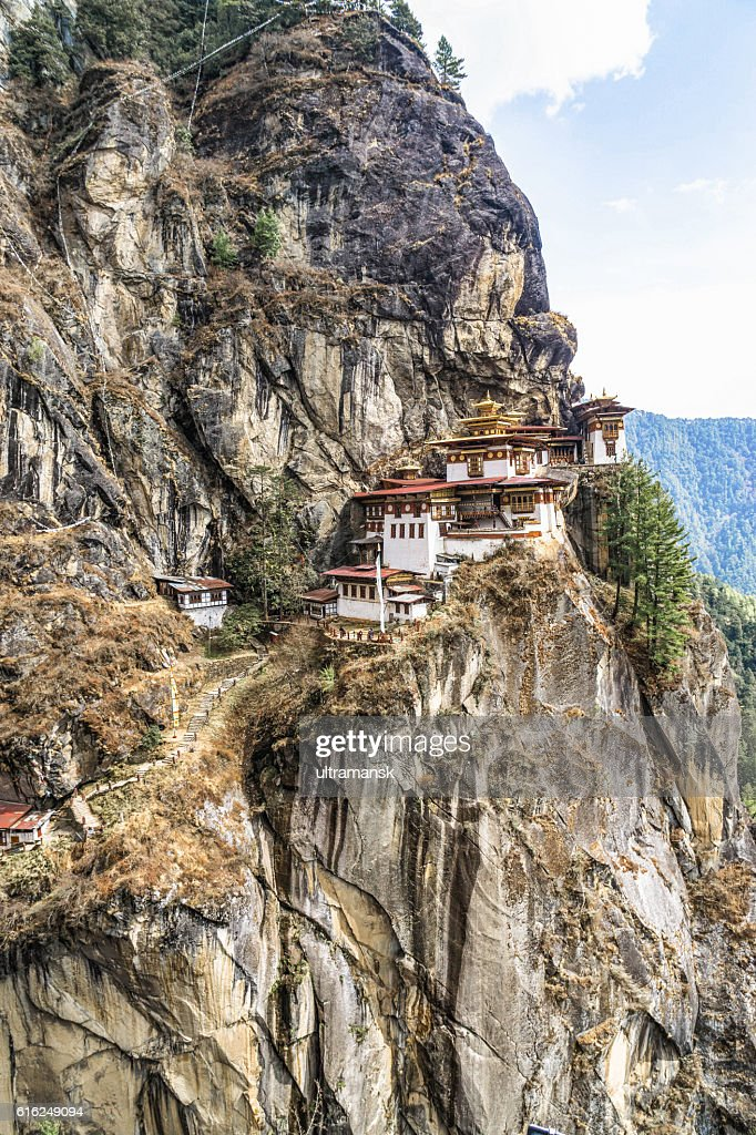 Taktshang Goemba or Tiger's nest Temple or Tiger's nest monaster : Foto de stock