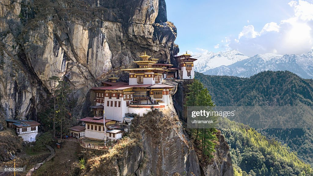 Taktshang Goemba or Tiger's nest Temple or Tiger's nest monaster : Stock Photo