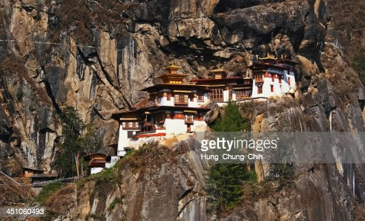 Taktshang Monastery (Tiger's Nest) in Bhutan : Stock Photo