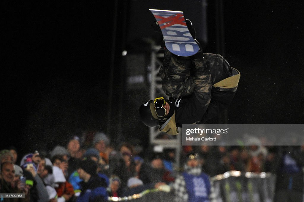 <a gi-track='captionPersonalityLinkClicked' href=/galleries/search?phrase=Taku+Hiraoka&family=editorial&specificpeople=7152528 ng-click='$event.stopPropagation()'>Taku Hiraoka</a> catches air at the men's snowboard superpipe elimination in Aspen at Winter X Games in Aspen, January 22, 2014. The men's snowboard superpipe final will be held Sunday night on Buttermilk Mountain.