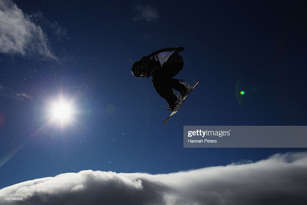 <a gi-track='captionPersonalityLinkClicked' href=/galleries/search?phrase=Taku+Hiraoka&family=editorial&specificpeople=7152528 ng-click='$event.stopPropagation()'>Taku Hiraoka</a> of Japan competes in the Snowboard Half Pipe Qualifier on day 15 of the Winter Games NZ at Cardrona Alpine Resort on August 27, 2011 in Wanaka, New Zealand.