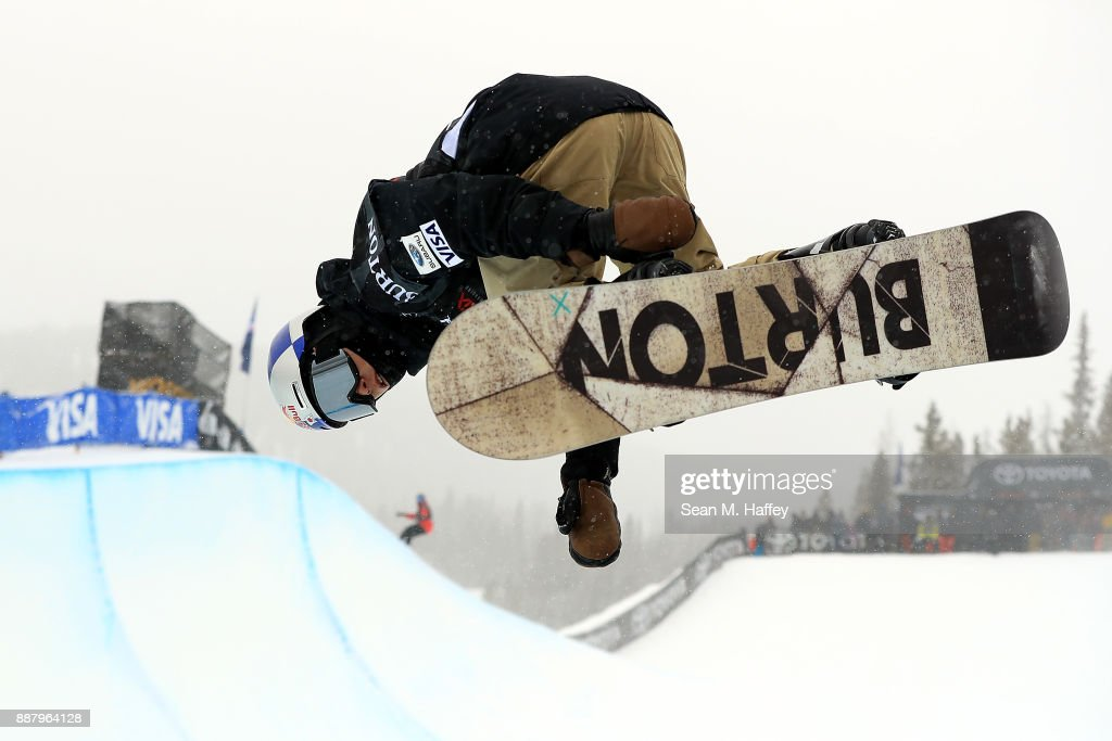 Taku Hiraoka of Japan ompetes in a qualifying round of the FIS Snowboard World Cup 2018 Men's Snowboard Halfpipe during the Toyota U.S. Grand Prix on December 7, 2017 in Copper Mountain, Colorado.