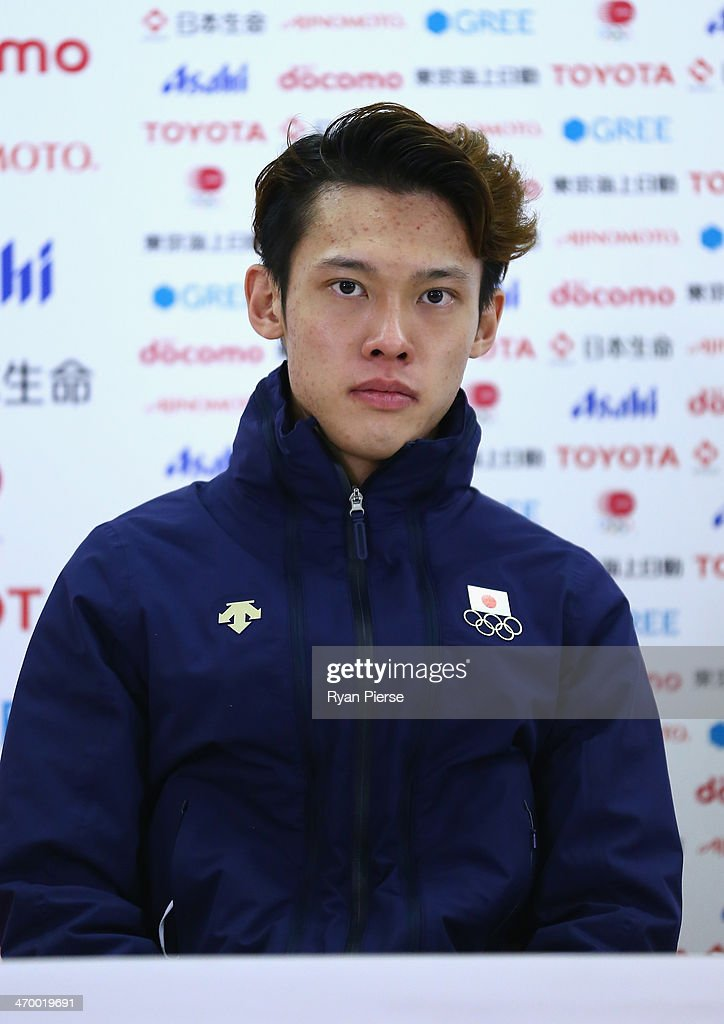 <a gi-track='captionPersonalityLinkClicked' href=/galleries/search?phrase=Taku+Takeuchi&family=editorial&specificpeople=4206331 ng-click='$event.stopPropagation()'>Taku Takeuchi</a> of Japan attends a Japanese medalist press conference at Japan House on day 11 of the Sochi 2014 Winter Olympics on February 18, 2014 in Sochi, Russia.