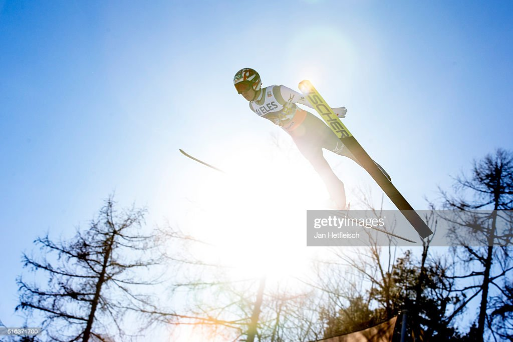 <a gi-track='captionPersonalityLinkClicked' href=/galleries/search?phrase=Taku+Takeuchi&family=editorial&specificpeople=4206331 ng-click='$event.stopPropagation()'>Taku Takeuchi</a> of Japan competes during the first run of the FIS Ski Jumping World Cup at Planica on March 18, 2016 in Planica, Slovenia.